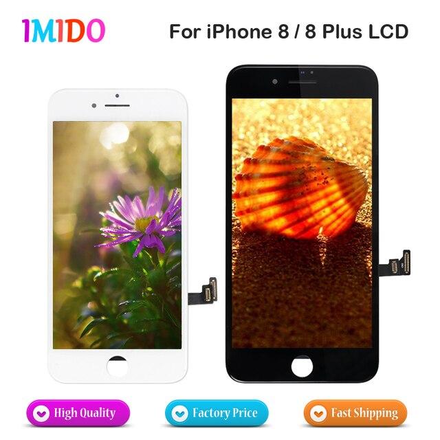 10 шт./лот AAA ЖК-для iphone 8, 8 Plus OEM дисплей сенсорный экран дигитайзер сборка без битых пикселей + 3D функция Force touch Бесплатная DHL