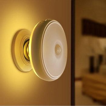 Oplaadbare Motion Sensor PIR Draadloze Kleine LED Licht Automatische Baby Kids Night Wandlamp voor Kinderen Kamer Trappen Meubilair