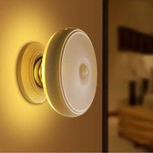 Wiederaufladbare Motion Sensor PIR Drahtlose Kleine LED Licht Automatische Baby Kinder Nacht Wand Lampe für Kinder Zimmer Treppen Möbel