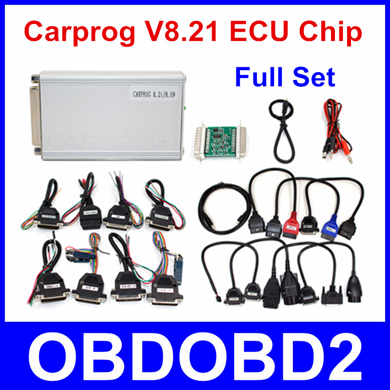 Newest Carprog Full V8.21 Firmware Perfect Online All 21 Adapters Full Set For Car Odometers Dashboards Immobilizer Repair