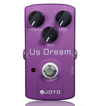 JOYO JF-34 US Dream Distortion Guitar Effect Pedal Aluminum Alloy Body True Bypass Effects Pedals Guitar Accessories aroma abt 5 classic distortion guitar effect pedal warm smooth wide range distortion sound 3 modes aluminum alloy true bypass