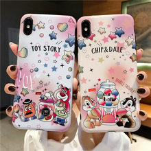 купить Cartoon Stitch Donald Duck Chip N Dale Phone Cover For iPhone X XR XS Max Case For Coque iPhone 8 7 6 6S Plus Soft Glossy Cases дешево