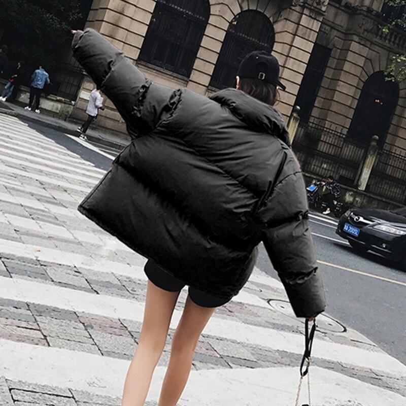 picture Black Longues Ouatée Manteau Mode Manches Femelle Color Coton New Femmes Hiver Épais Col Jq859 Casual Couleur Solide Dames Parkas Montant Veste HRxwX07Wq