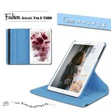 Nuevos Productos de Lujo 360 Giratoria Del Cuero Del Tirón Funda funda Tablet para el caso de Samsung Galaxy Tab E T560 T561 Envío Libre de caja