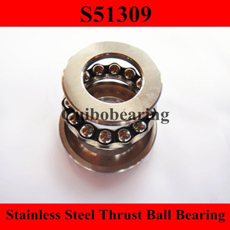 S51309 stainless steel thrust ball bearing size:45x85x28mm цена
