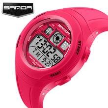 SANDA LED Digital Watch Women 2017 Sport Wrist Watches Ladies Famous Brand Digital-watch Clock Relogio Feminino Montre Femme