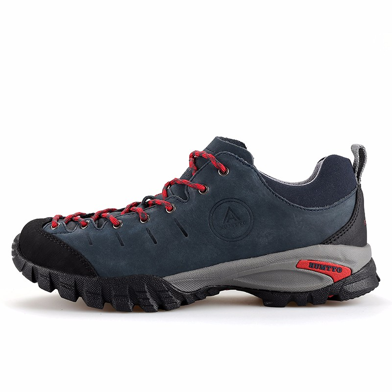 HUMTTO Mens Genuine Leather Sport Outdoor Hiking Trekking Shoes Sneakers For Men Waterproof Climbing Mountain Shoes Man humtto women s leather outdoor hiking trekking sneakers shoes for women purple sports climbing mountain shoes woman sneaker