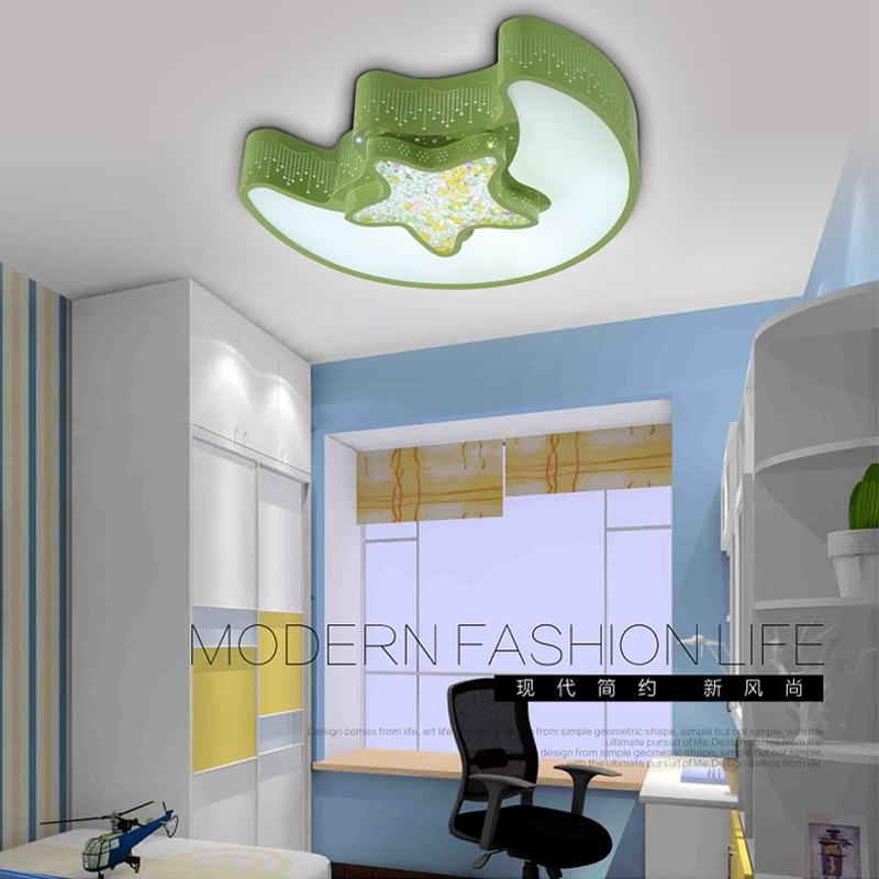 Childrens Ceiling Lamp Led Children Lamp Romantica Ceiling Light Star Moon Bedroom Light Kindergarten Modern Ceiling Lamps Lights & Lighting Ceiling Lights