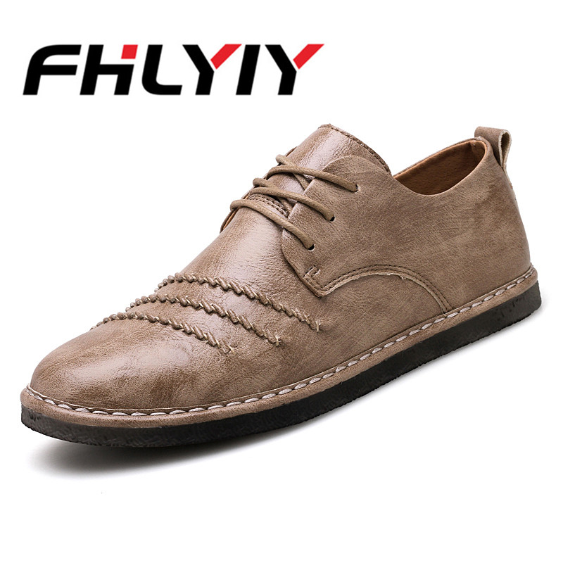 2018 Casual Men Shoes New Spring Summer Autumn Men Flats Lace Up Male Suede Oxfords Man Leather Shoes Office Party Mens Shoes цена