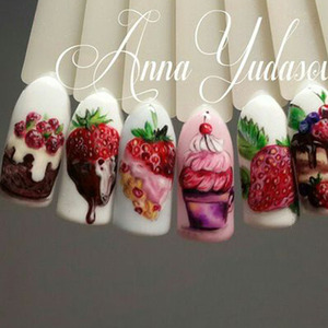 Image 3 - 18pcs Sweets Ice Cream Summer Nail Sticker Mixed Colorful Fruit DIY Water Decals Nail Art Decorations Manicure Tool TRSTZ471 488
