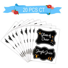 Chalkboard Stickers New Trends Beer Bottle Labels Reusable Wine Glass Charms Juice Cup Creative Cheers Drink Decoration