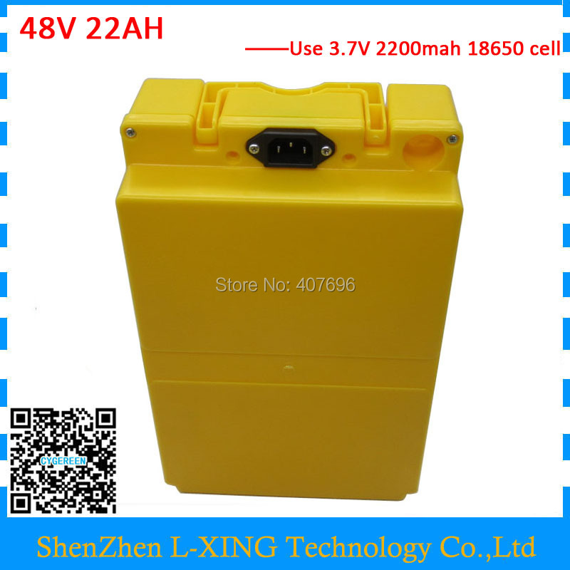 1000W 48V li-ion battery pack 48V 22AH Scooter battery With plastic case 48 V ebike battery 22AH with 30A BMS 54.6V 2A Charger ebike battery 48v 15ah lithium ion battery pack 48v for samsung 30b cells built in 15a bms with 2a charger free shipping duty
