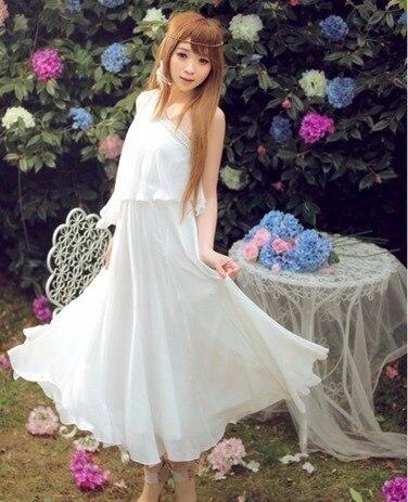 2012 summer handmade beading fairy skirt elegant chiffon one-piece dress full dress female summer 8317