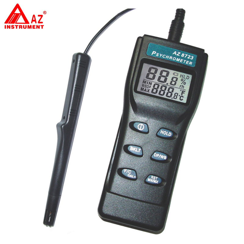 AZ-8723 Handheld Temperature,Humidity,Dew Point Meter,Wet Bulb Temperature Humidity Tester temperature and humidity sensor protective shell sht10 protective sleeve sht20 flue cured tobacco high humidity