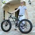 Original X-Front brand Snowmobile 7,21 Speeds 26inch Fat Tire disc brake MTB Mountain Bike Off-road gear reduction Beach Bike