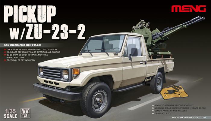 Meng Model 1:35 - Pick Up Truck W/ ZU23-2 Vs-004