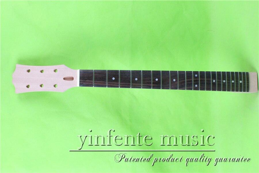 L -00145 #  unfinished   24.75 Electric guitar neck fine quality  rosewood   fingerboard l