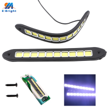 2pcs/lot Square 31cm Bendable led Daytime Running light 100% Waterproof COB Day time Lights flexible LED Car DRL Driving lamp