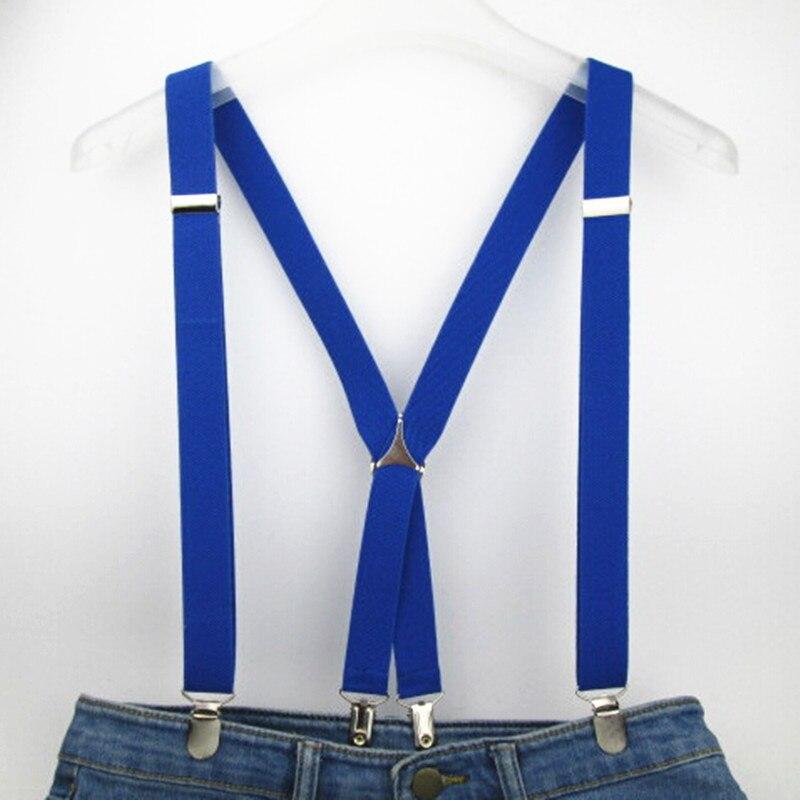 120cm panjang warna pepejal dewasa lelaki suspender 2.5 cm tali - Aksesori pakaian - Foto 5