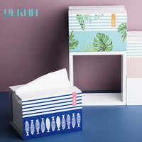 Creative Metal Tissue Box Multi Function Seat Type Removable Tissue Storage Box Home Decorative Table Tissue Canister