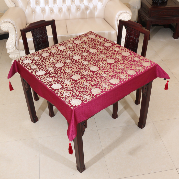Mult sizes Dobby Lucky Table Cloth High End Luxury Chinese style
