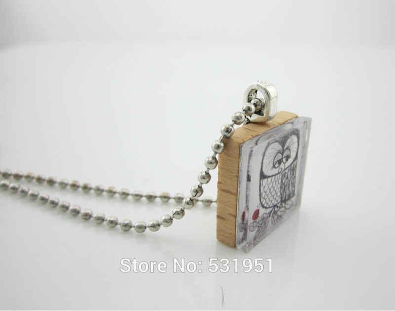 Bán Buôn Scrabble Trang Sức Cây Sự Sống Cổ Gustav Klimt Scrabble Ốp Mặt Dây Chuyền Vòng Cổ-Vintage Bằng Gỗ Cổ