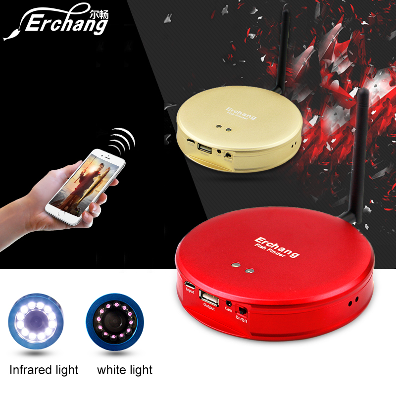Erchang Fishing Camera wifi fish finder for phone HD 1000TVL 15m Infrared Underwater Camera for Fishing
