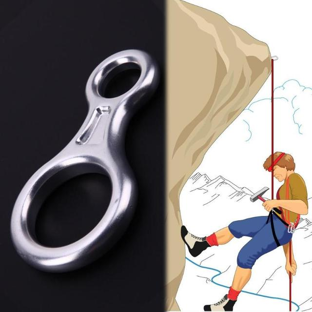 Outdoor Rock Climbing 35KN 8 Ring Descender Escape Rope Descent Device Rock Climbing Device Rock Climbing Accessories Tool
