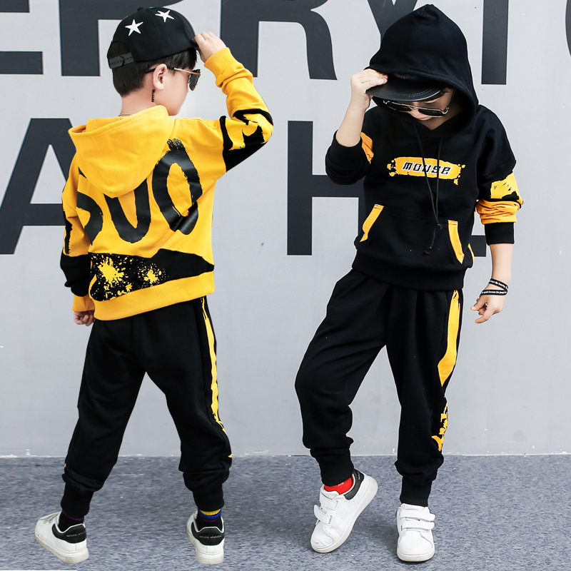 Children Clothes Brand Boys Clothing Set Sports cotton Suit Boys Hooded Pants Sport Clothes Hoodies Children Clothing Set 2 11Y