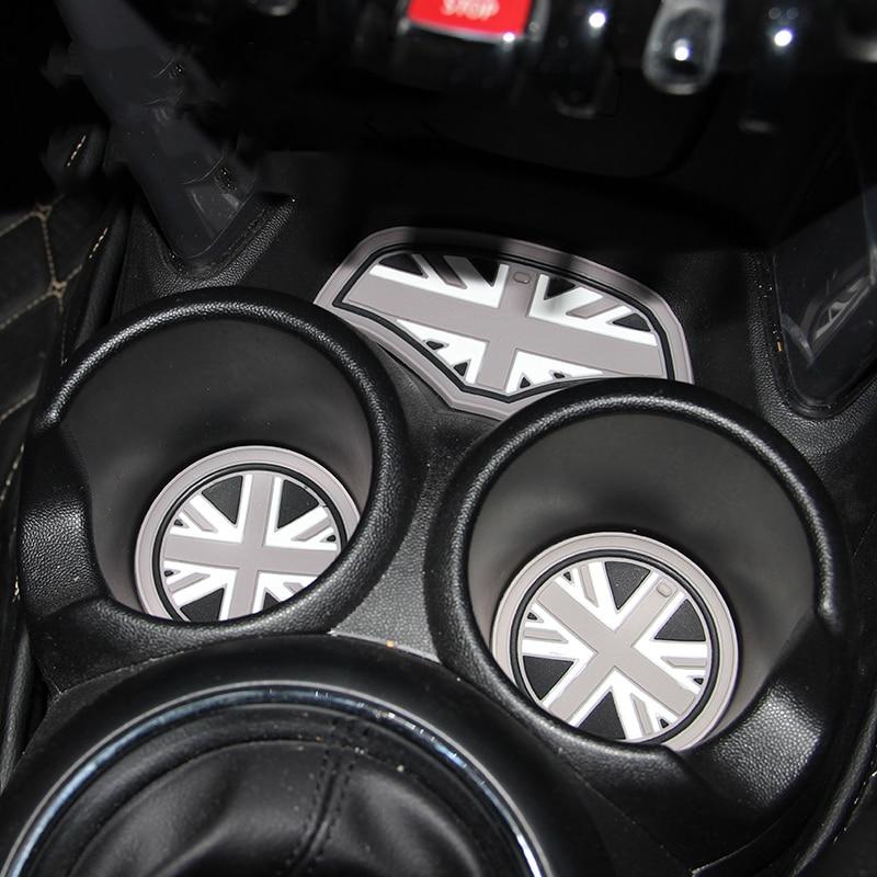 6pcs Gel Silicone Car Anti-Slip Interior Coffee Tea Cup Mat Pad Coaster Car Styling For Mini Cooper F56 Car Styling Accessories car styling mat interior accessories case for mitsubishi car styling anti slip mat