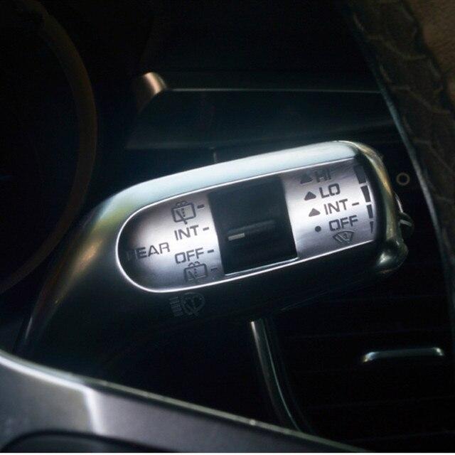 Car Styling Steering Wheel Wiper Lever Rod Sticker Trim For Porsche Macan Cayenne Panamera Interior Accessories 2