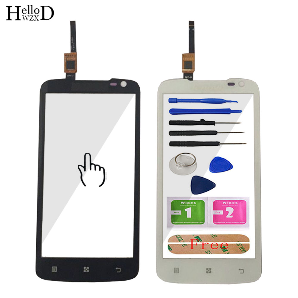 A+++ Mobile TouchGlass HighGlass For Lenovo S820 Touch Screen Digitizer Front Outer Glass Panel Lens Sensor + Adhesive
