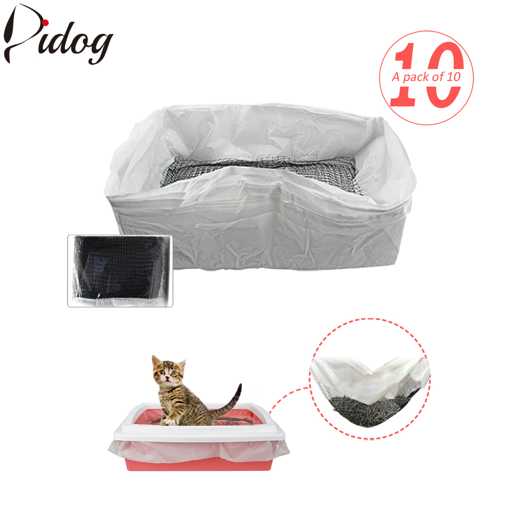 10pcs/lot Cat Litter Tray Liners Reusable Kitten Hygienic Litter Box Scoop Liners Hands Free Elastic Cats Sifting Feces Filter 翻轉 貓 砂 盆