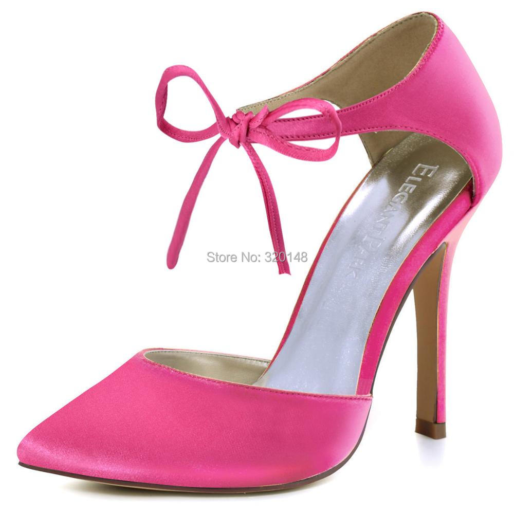 c7d923121 Woman High Heel Prom Evening Pumps Teal Navy Blue Ankle Strap Ribbon Tie  Satin Bride Bridesmaids Wedding Bridal Shoes HC1610USD 39.99 pair