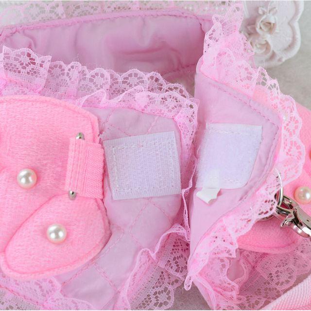 Bajila Dog chain  dog breast  back rope  pet dog rope  cute lace angel  pearl wing  chest strap