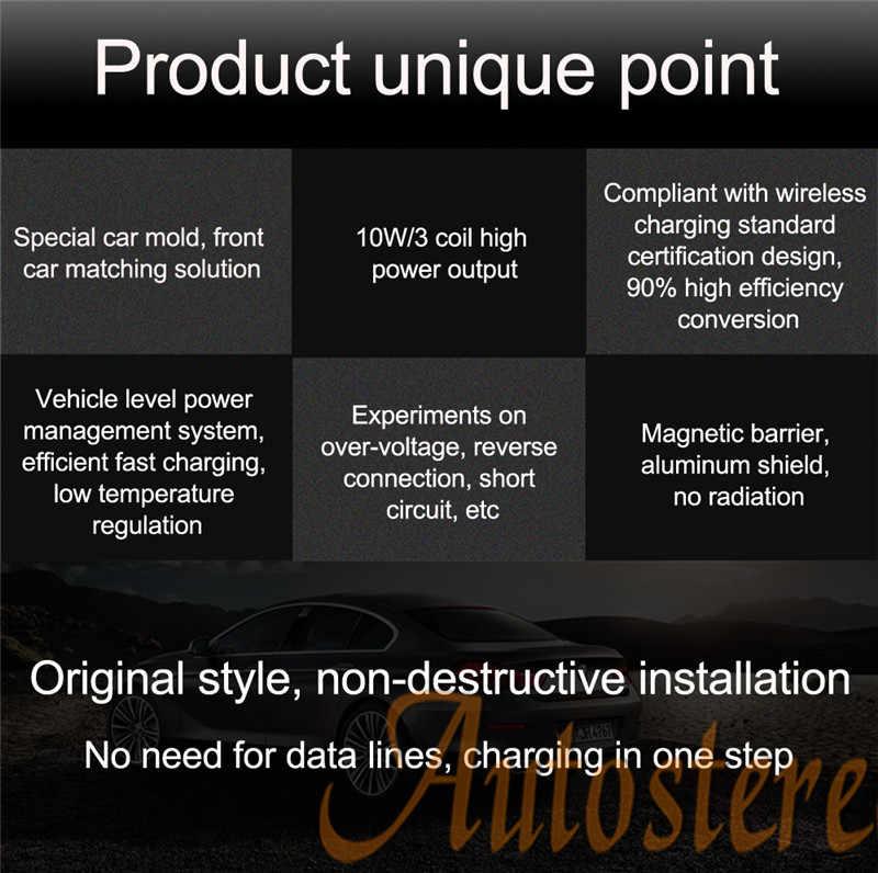 Cargador inalámbrico QI para coche para Toyota LAND CRUISER 20142018 inteligente infrarrojo de carga rápida inalámbrico para coche soporte de teléfono para iphone