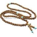 5 шт. Природный 8 мм Венге Древесины Круглых Бусин 108 Буддийские Молитвы Мала Ожерелье Ювелирные Изделия