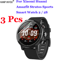 3 Pcs/Lot For Xiaomi Huami Amazfit Stratos Pace 2 2S Sports SmartWatch Full Cover Soft TPU Film Explosion-proof Screen Protector