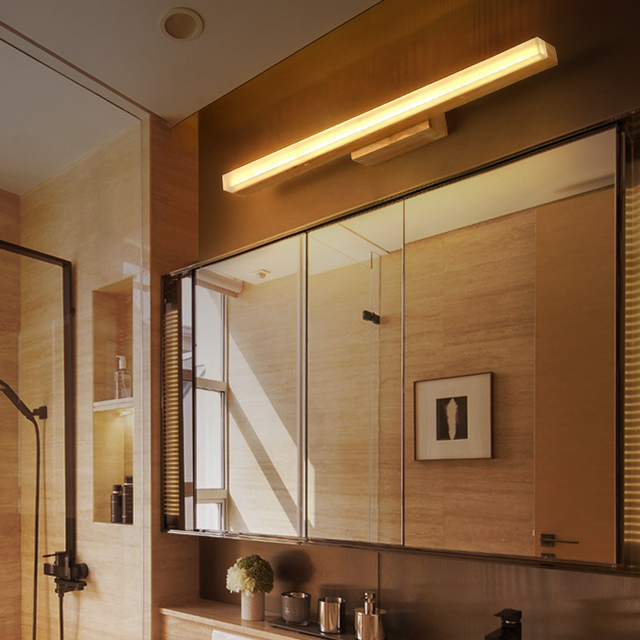 Bathroom Mirror Za online shop japanese wood wall lights minimalist staircase aisle