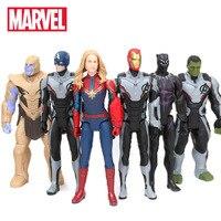 30 см игрушки Marvel Мстители 4 эндигра Человек-паук танос Халк ПВХ Фигурка Железный человек Капитан Америка Черная пантера фигурка-модель