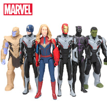30 cm Marvel zabawki Avengers 4 końcówki Spiderman Thanos Hulk pcv figurka Ironman kapitan ameryka czarna pantera Model figurka tanie tanio Hasbro Żołnierz gotowy produkt Wyroby gotowe Unisex 30cm not suit for under 3 years Zachodnia animiation 6 lat 8 lat