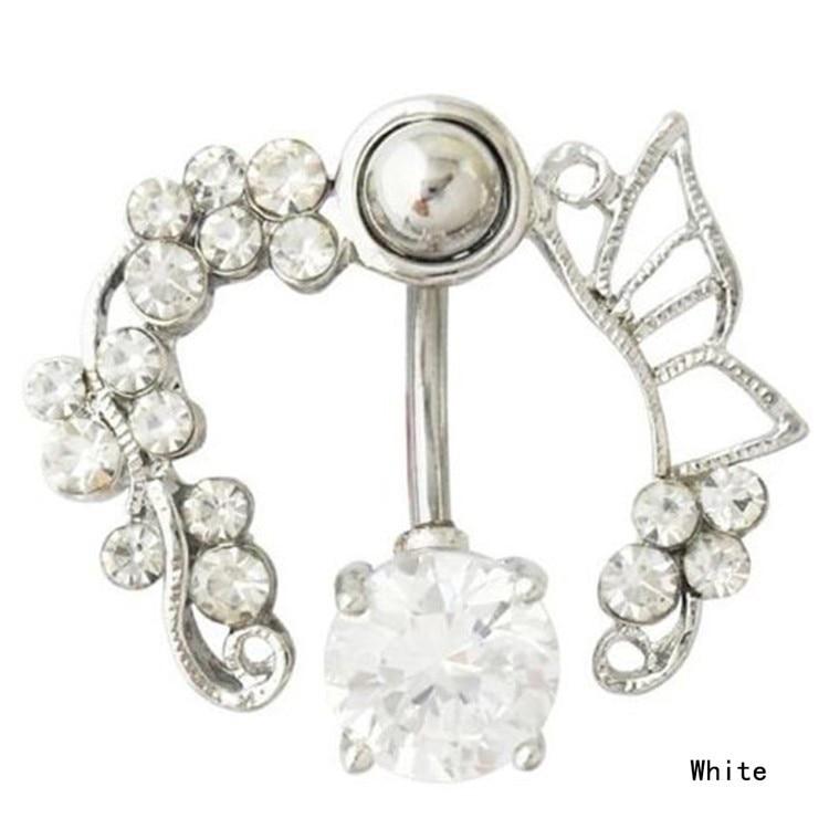 HTB16D2zIFXXXXaiXXXXq6xXFXXXd Enchanting Butterfly Garden Hollow Belly Button Ring For Women - 2 Colors