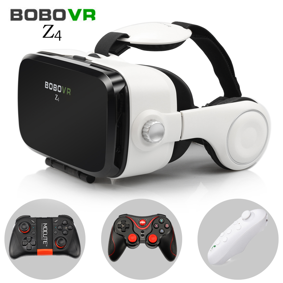 080883b0aea BOBOVR Z4 Virtual Reality goggles 3D glasses headset bobo vr Box Google  cardboard headphone for 4.3