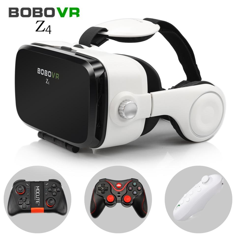 Bobovr Z4 виртуальной реальности очки 3D очки гарнитура Bobo VR коробка Google cardboard наушники для 4.3-6.0 дюймов смартфонов