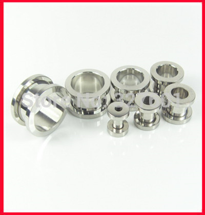 Screw Plug Wholesales 200pcs lot Mix2 10MM Stainless Steel Body Jewelry Ear Plug Flesh Tunnel