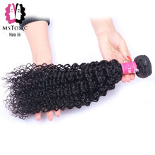 Mstoxic Malaysian Afro Kinky Curly Weave Human Hair Bundles 8-30 Inch Bundles NonRemy Hair Extension Natural Color Free Shipping(China)