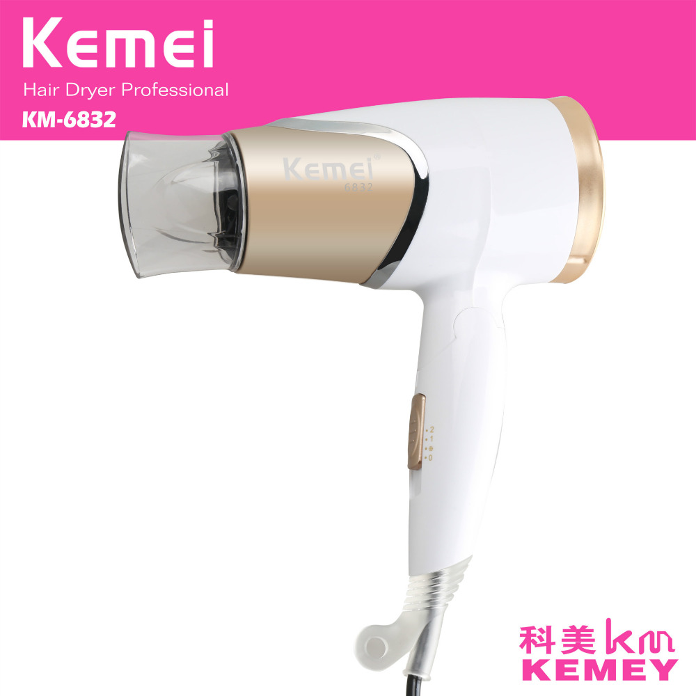 1800W Foldable Electric Hair Dryer Styling Tools Portable Blow Dryer Low Noise Household Salon Hot/Cold Wind Travel penguin low noise portable electric fan
