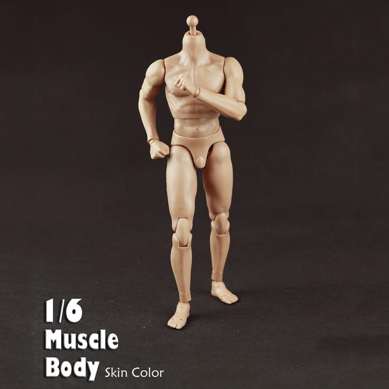 12 Inches 27cm Male Muscle Body B34004 for 1/6 Scale Mens Head Action Figures Dolls Gifts Toys 12 inches male muscular body figures without neck for 1 6 scale mens head sculpts gifts collections toys