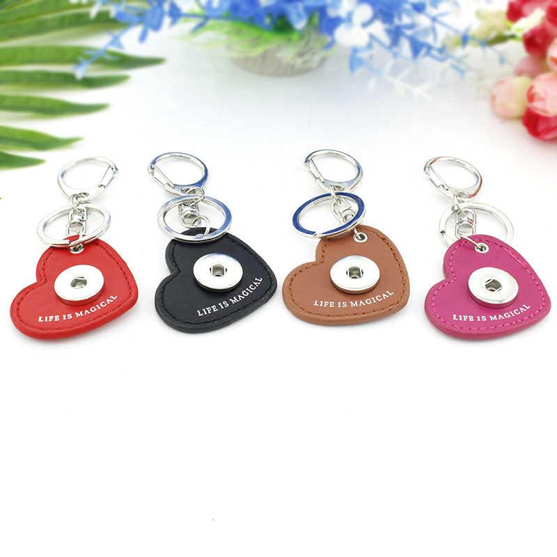 Charme tafree jw. Org coração couro chaveiro testemunhas de jeová snap botões de vidro cabochão cúpula porta-chaves do carro titular qf60