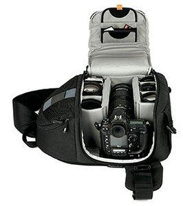 Image 5 - Lowepro Schleuder 350 AW DSLR Kamera Foto Sling Schulter Tasche mit Wetter Abdeckung Freies Verschiffen